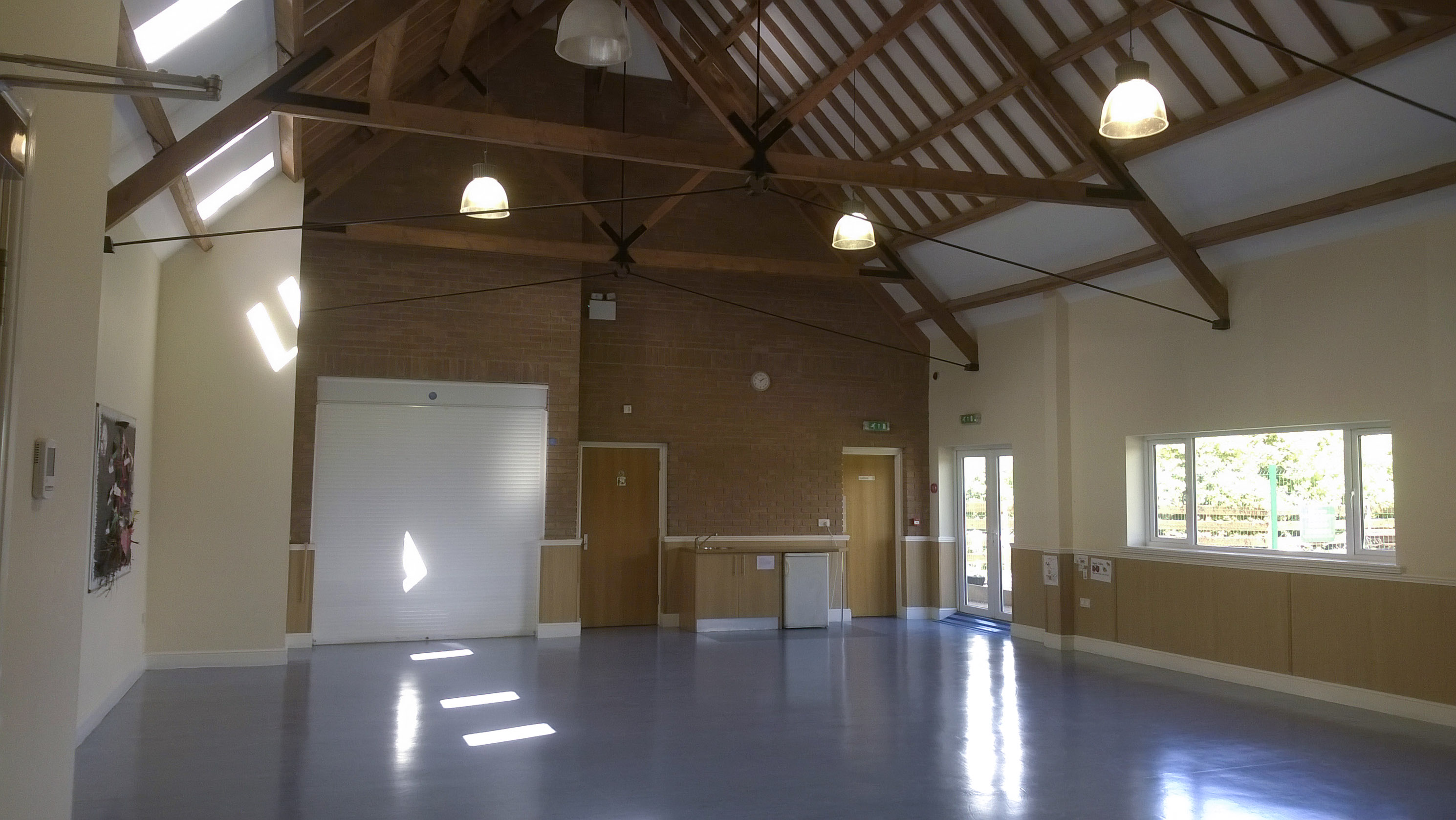 Hire our child friendly rear hall